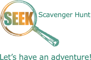 Logo and tagline for the SEEK scavenger hunt app