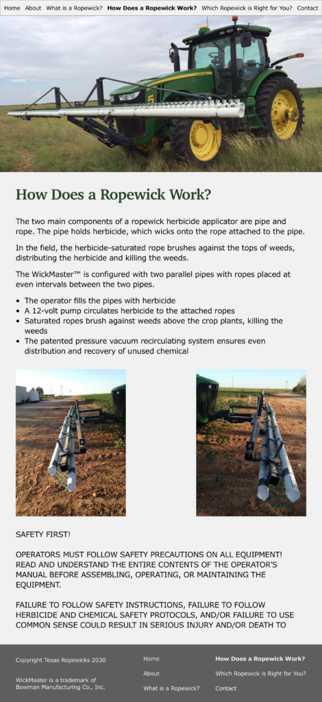 Texas Ropewicks How Does a Ropewick Work page