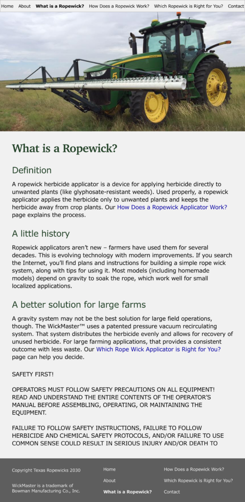 Texas Ropewicks What is a Ropewick page